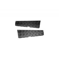 Protections de bas d'aile arrière couleur noire Defender 110