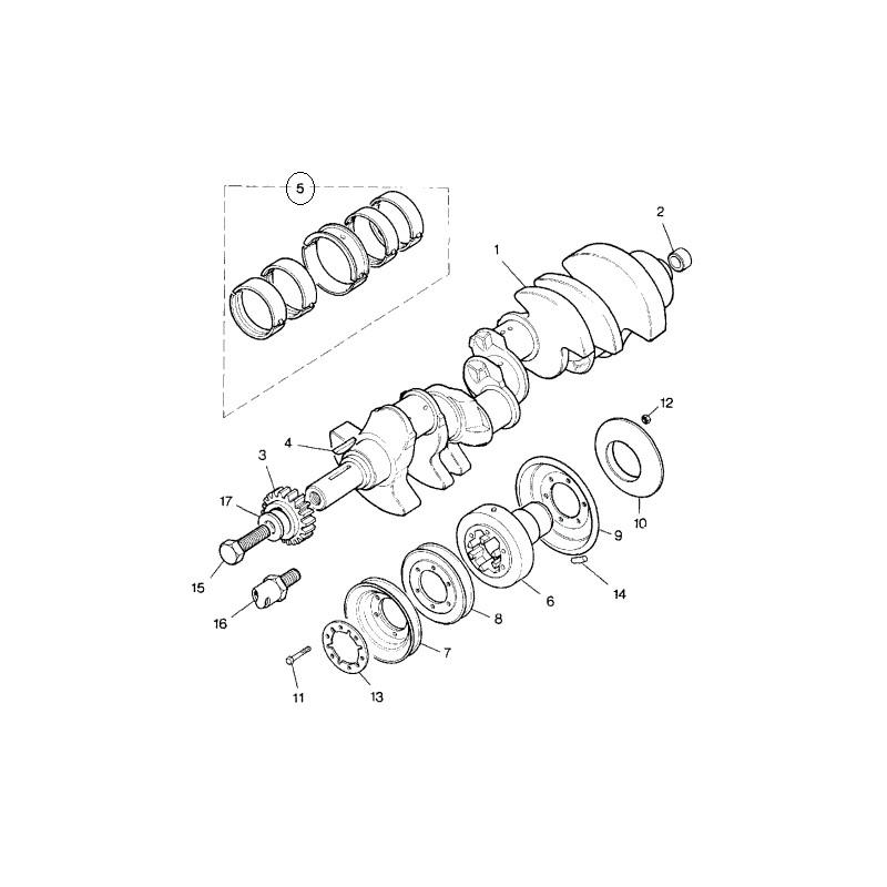 kit de coussinets de vilebrequin moteurs v8 defender