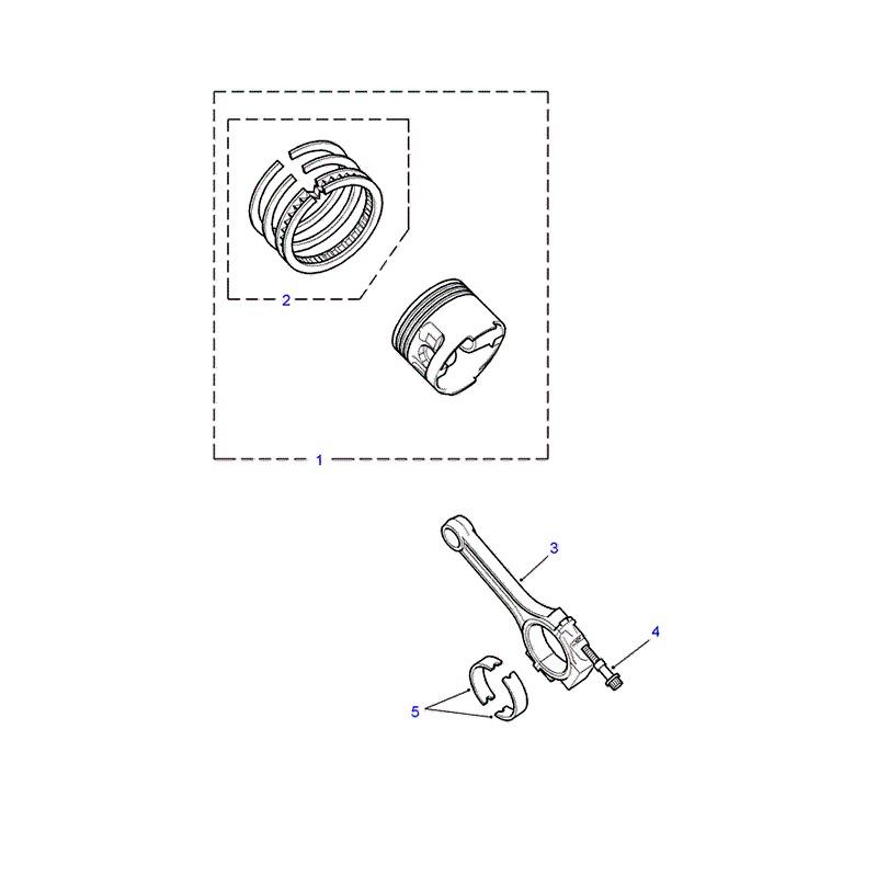 piston complet oem cote standard defender discovery range