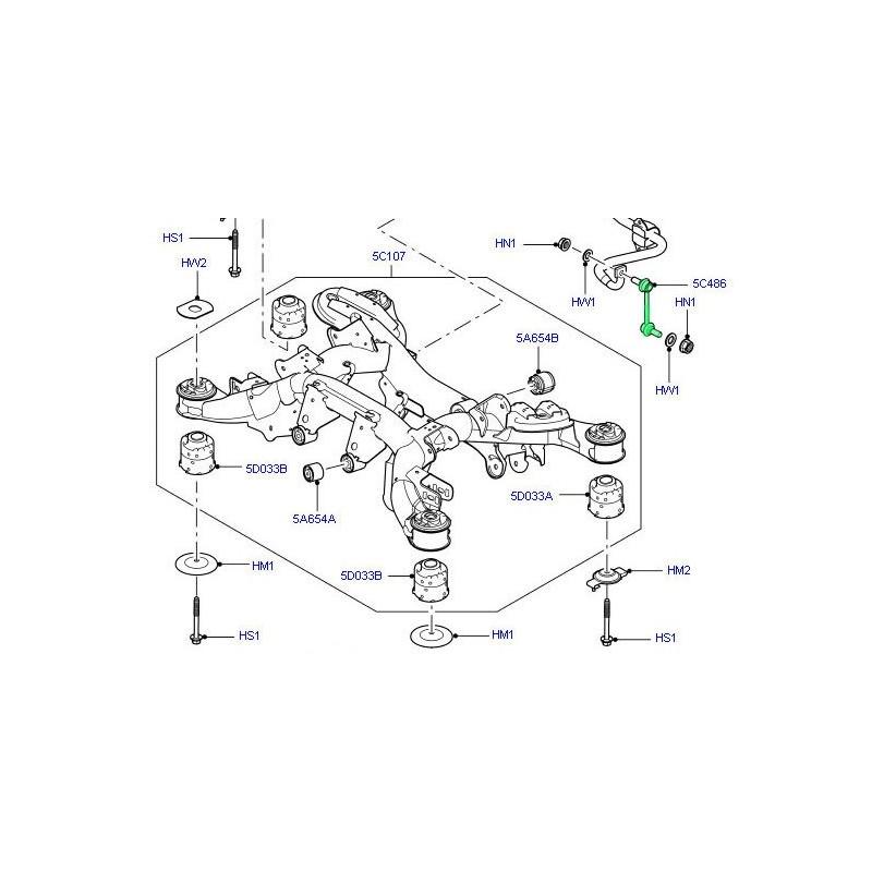 biellette de barre stabilisatrice arri u00e8re oem range rover l322