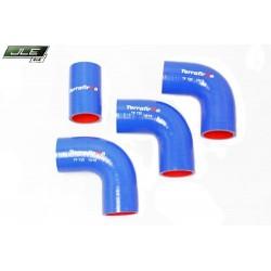 Kit de durites intercooler silicone bleu Terrafirma pour Defender 200 Tdi