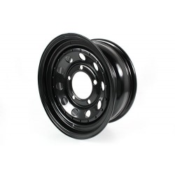 Jante tole modular noire 7x16 pour Defender, Discovery 1 et Range Rover Classic